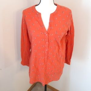 Old Navy Cotton Floral Tunic L